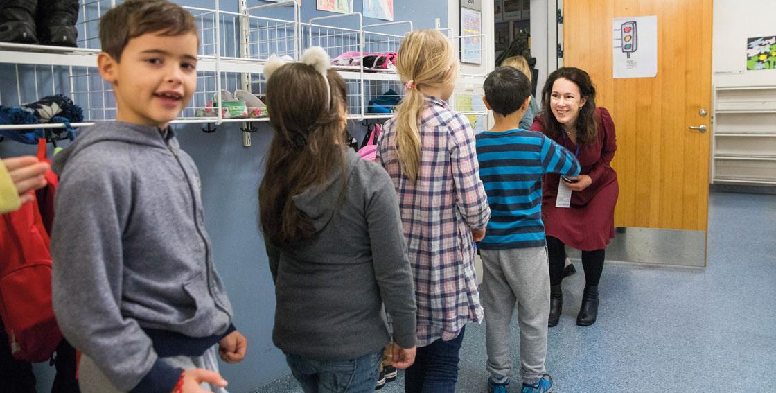 Både elever och läraren Maria Lychnell trivs med Pax-modellen.