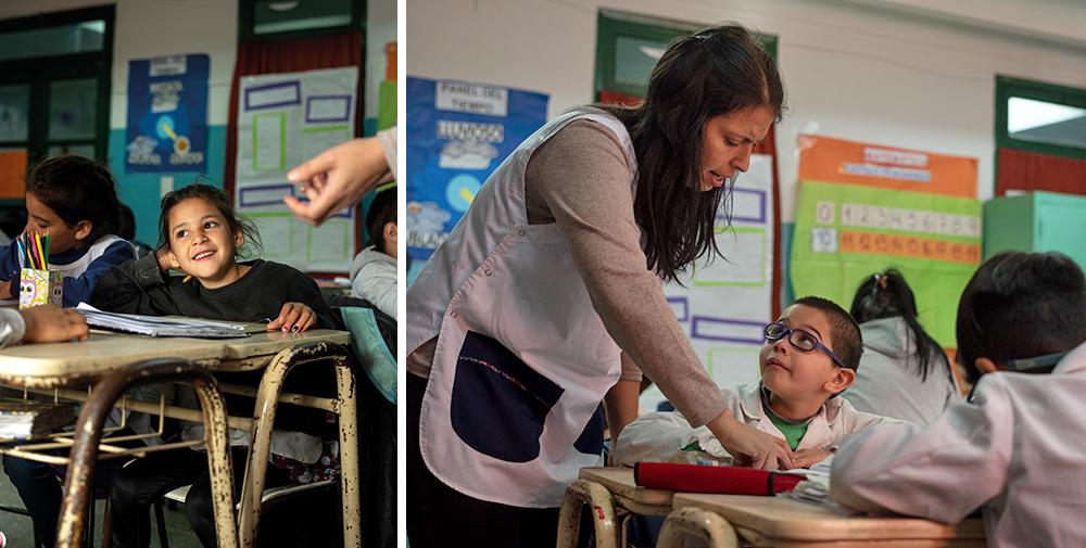 Det bästa med att vara lärare är relationen till barnen, menar Jimena Barrague. Foto: Felipe Morales