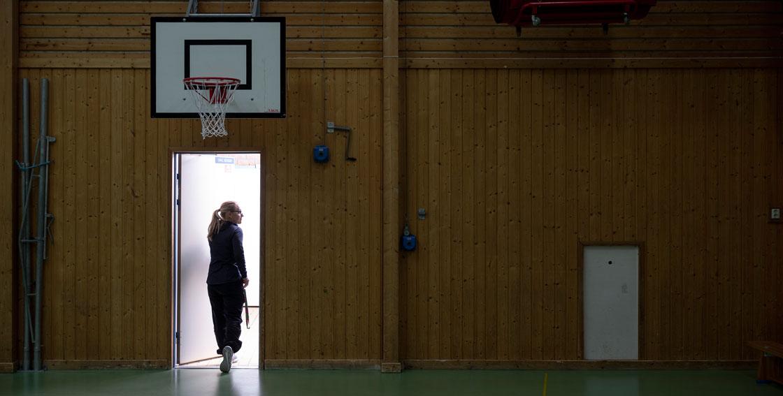 Carina Murblad på Tomtbergaskolan i Huddinge.