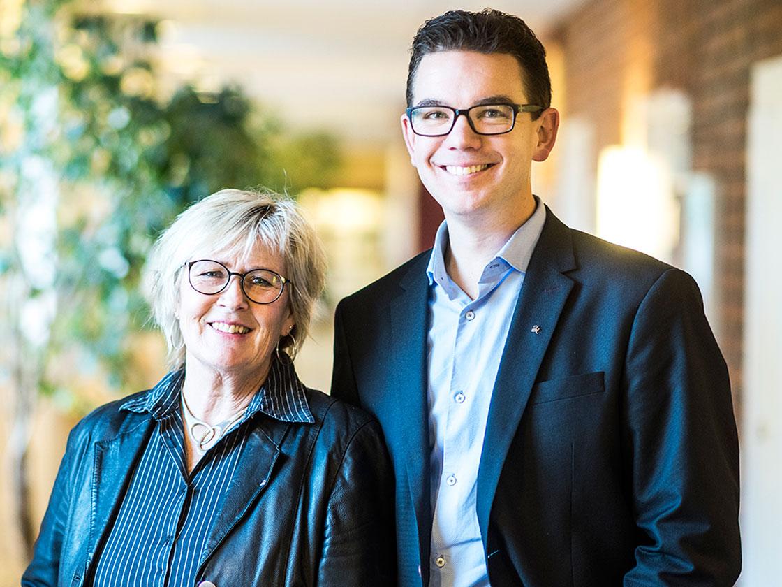 Gun-Marie Persson och Johan Hallberg, rektorer på malmaskolan.