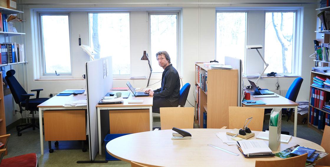 Pelle Sjödin är lokalombud för LR på Hässleholms tekniska skol. I coronatider har hans undervisning fått ske på distans.