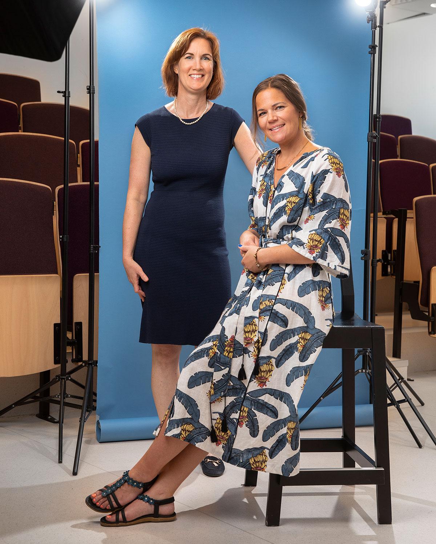 Karin Boberg och Anna Sterlinger Ahlring.