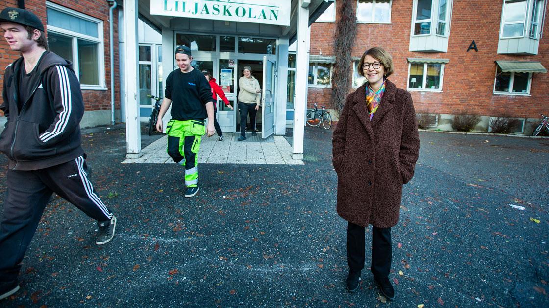 Agneta Halvares Palmqvist arbetar med tre yrkesprogram: fordon, vård och omsorg samt hotell och turism.