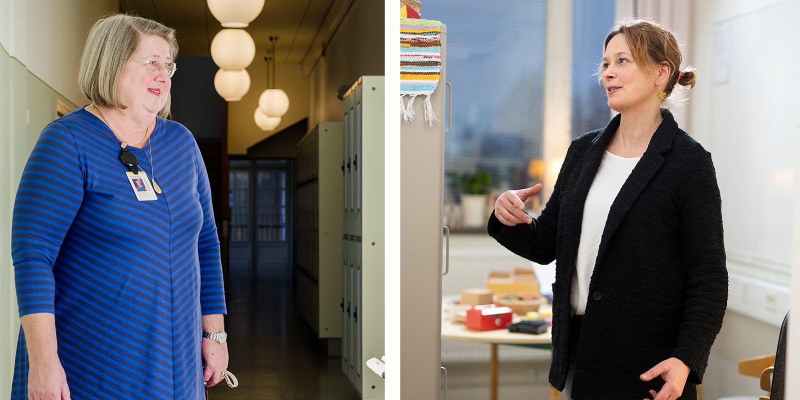 Specialpedagogen Ann-Katrin Wijk och specialläraren Elin Örnebring.