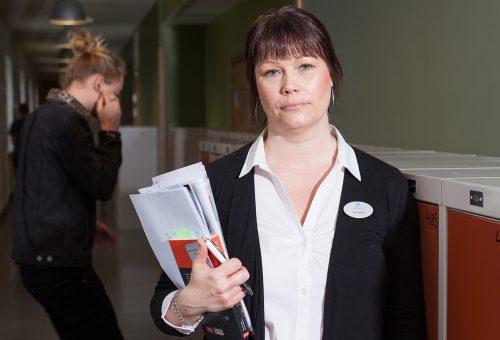 Anne Pihlo, Ordförande och föreningsombud för Lärarnas Riksförbund i Borås.