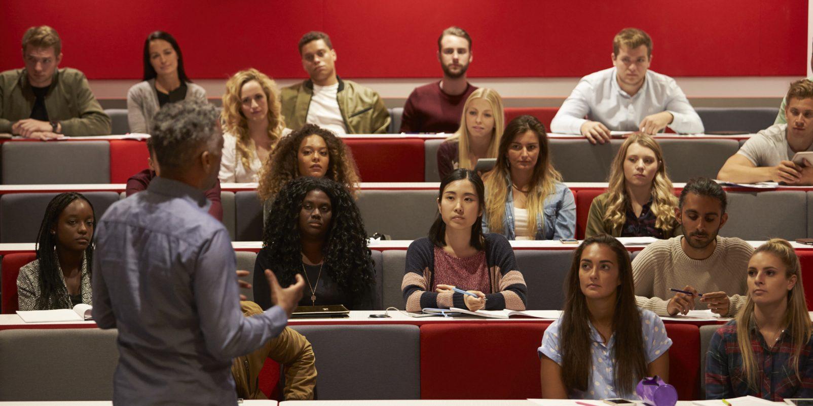 Föreläsning, studenter, universitet, högskola, lärarutbildning, lärarstudenter