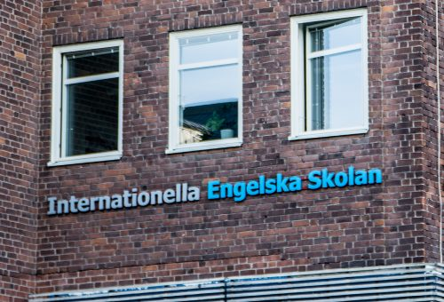 Internationella engelska skolan.