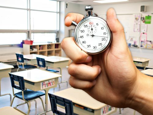 klocka klassrum