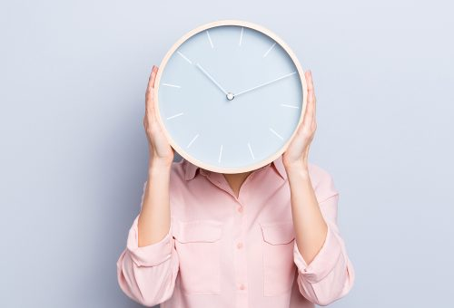 kvinna klocka