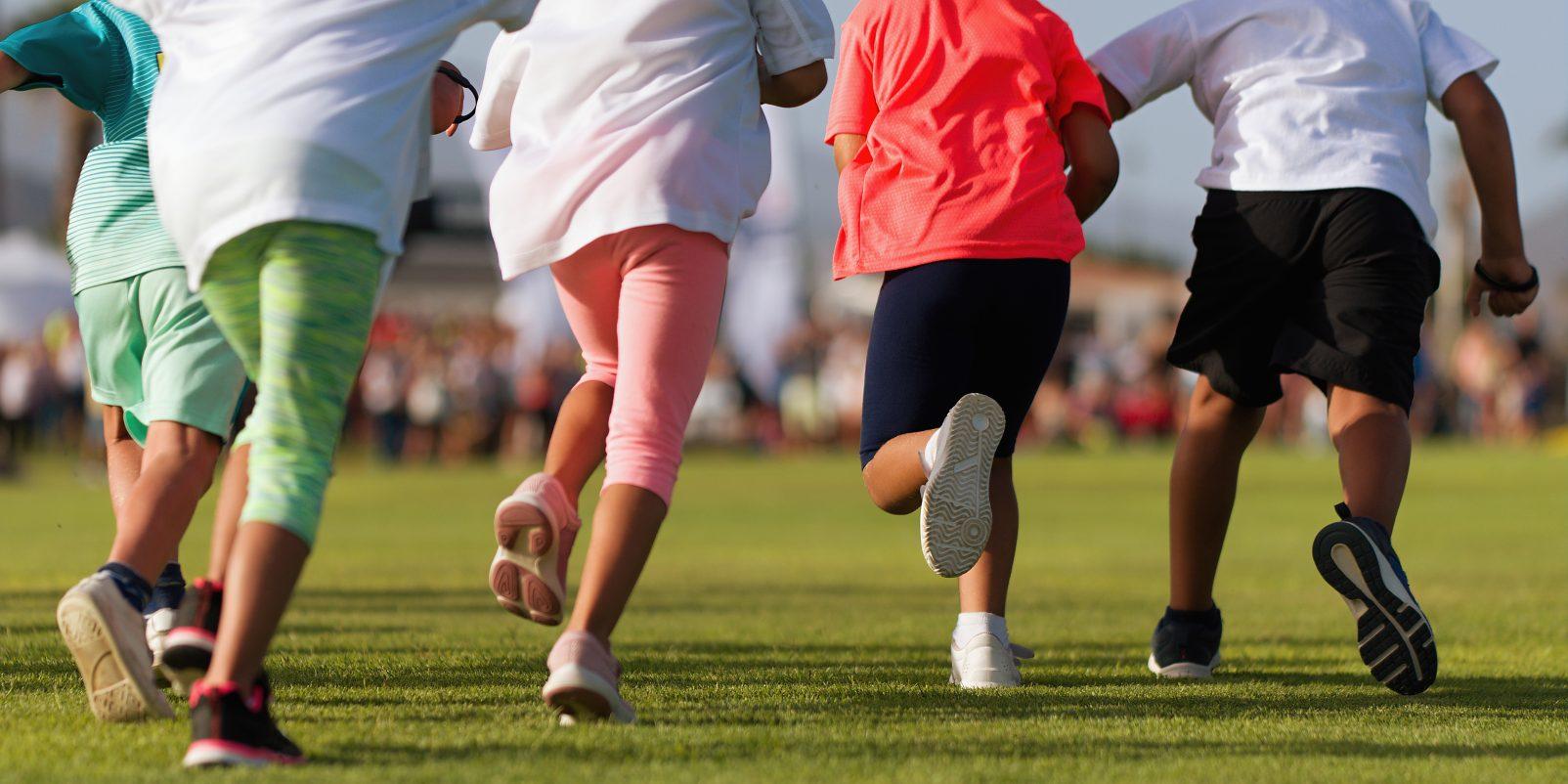 Running,Children,,Young,Athletes,Run,In,A,Kids,Run,Race,