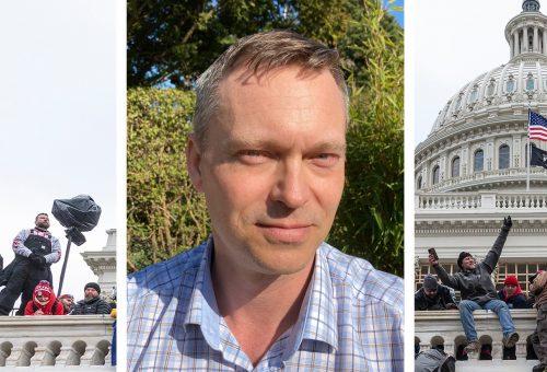Fredrik Clausson hotades av en förälder, tillika Sverigedemokratisk kommunpolitiker, efter en lektion om stormningen av USA:s kongressbyggnad Kapitolium.