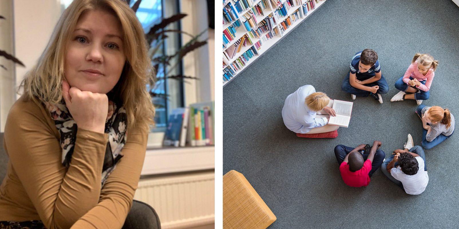 Hanna Berg Carlsson, skolbibliotekarie på Jenny Nyströmskolan i Kalmar.