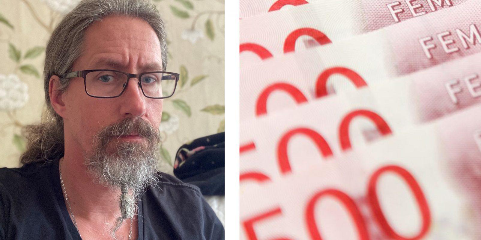 Christoffer Saar, föreningsombud för Lärarnas Riksförbund i Oskarström.
