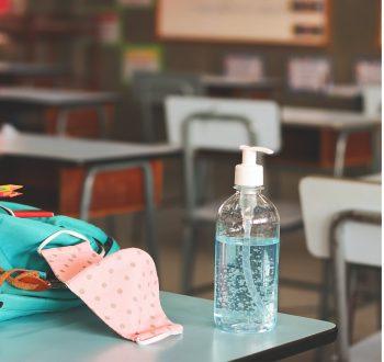 Handsprit, klassrum, arbetsmiljöverket