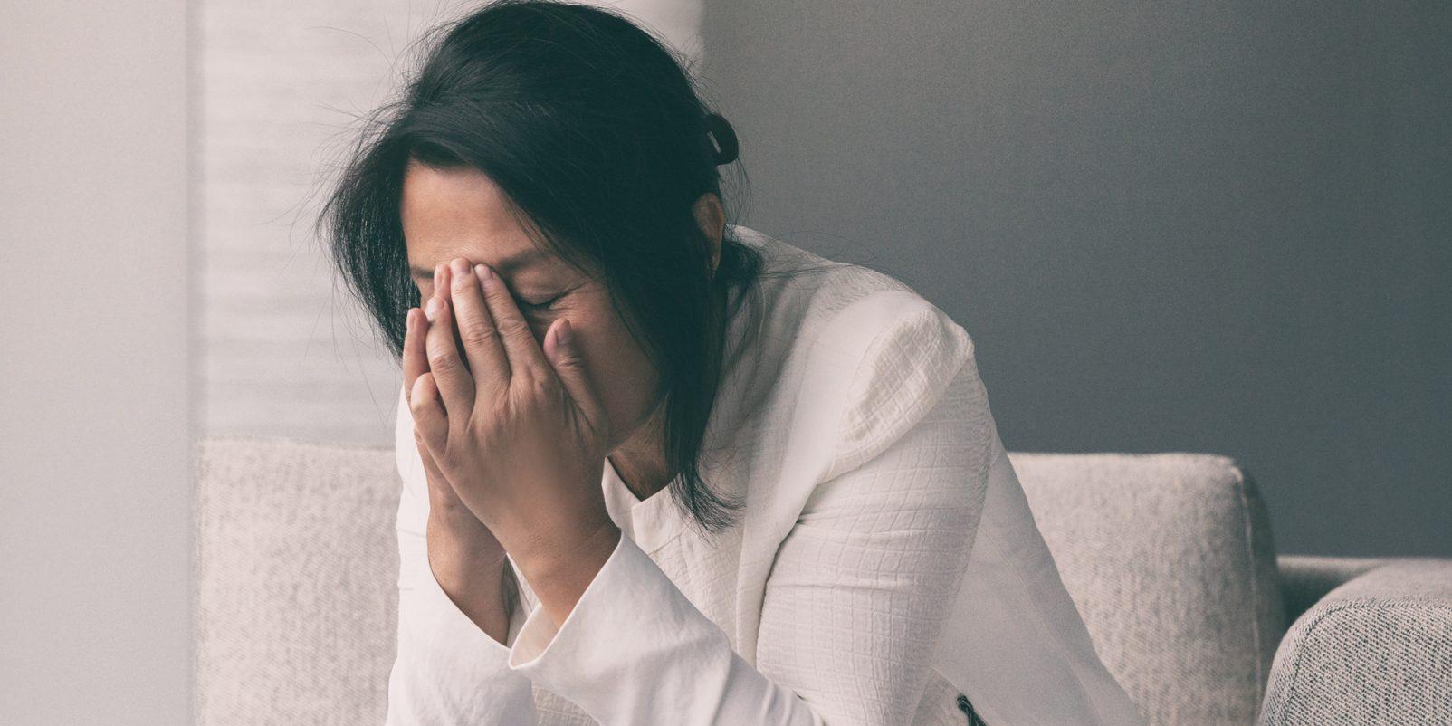 Stressad kvinna. lärare